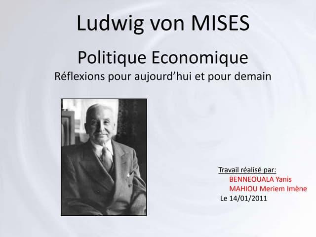 Ludwig von Mises par Benneouala Mahiou