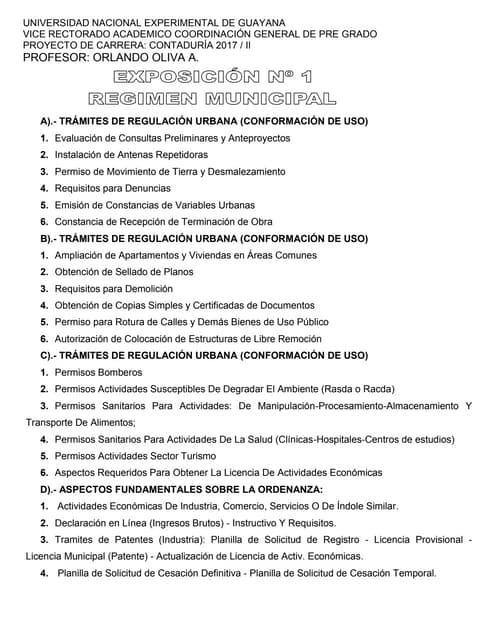 Exposición nº1 reg municipal