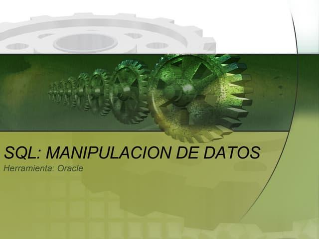 Manipulacion de Bases de Datos