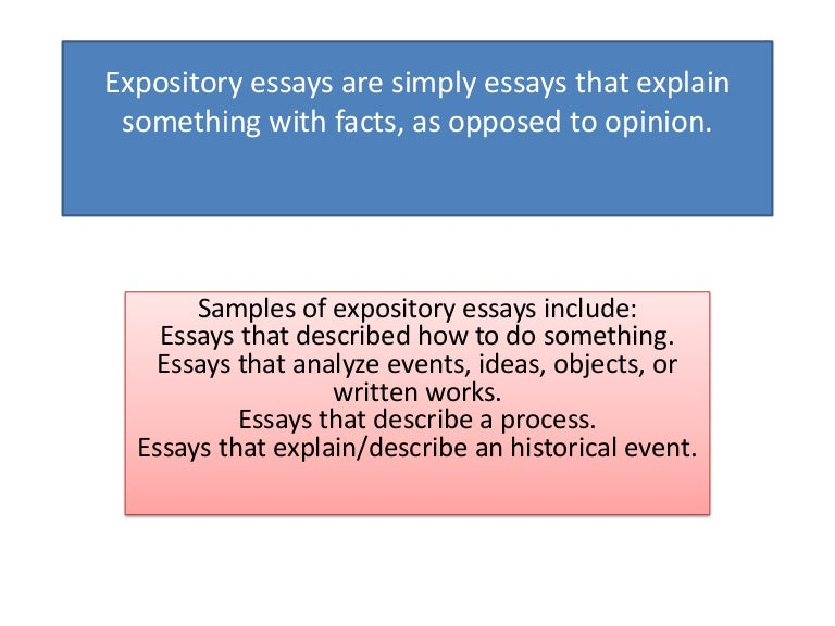 expository essay explaining a process Process essay planning a party essays all process essays must clearly explain in detail how to complete descriptive, expository or a persuasive essay.