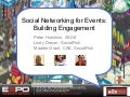 Social Networking for Events Part 3 of 3: Building Engagement