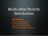On-Ramp to the Multi-Site Church Revolution