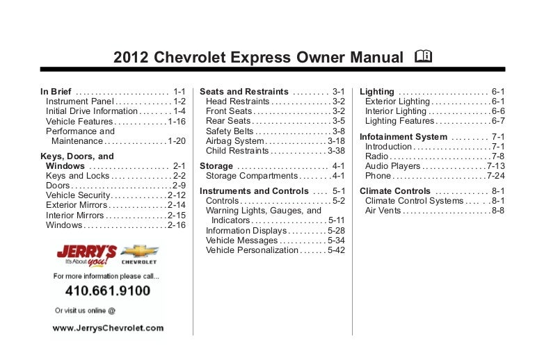 Chevy express owners manual array 2012 chevy express owner u0027s manual baltimore maryland rh slideshare fandeluxe Images