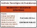 EXPOSICION DE SELECCION Y VALORACION