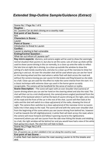 step outline sample