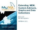 Extending MySQL Enterprise Monitor