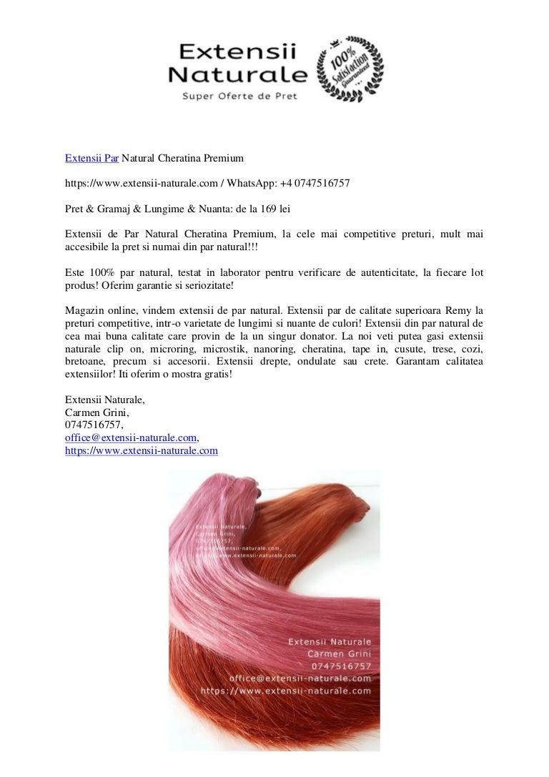 Extensii De Par Natural Cheratina Premium