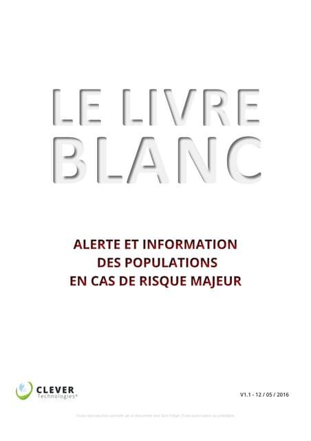 Extrait du livre blanc alerte et information des populations