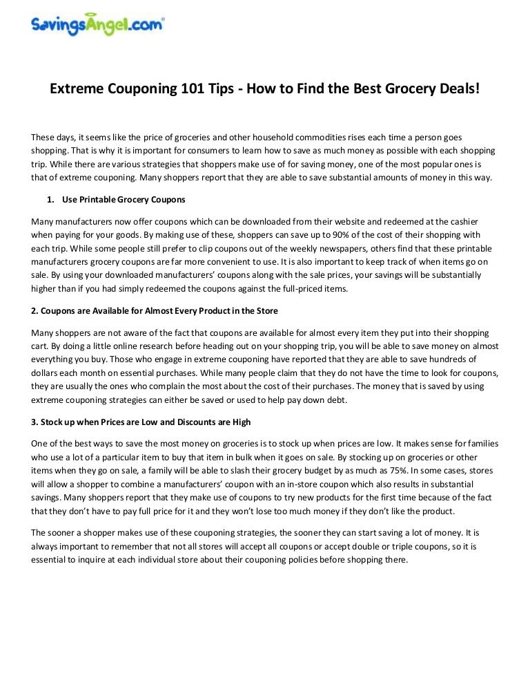 Extreme Couponing 101 Tips How To Find The Best Grocery Deals