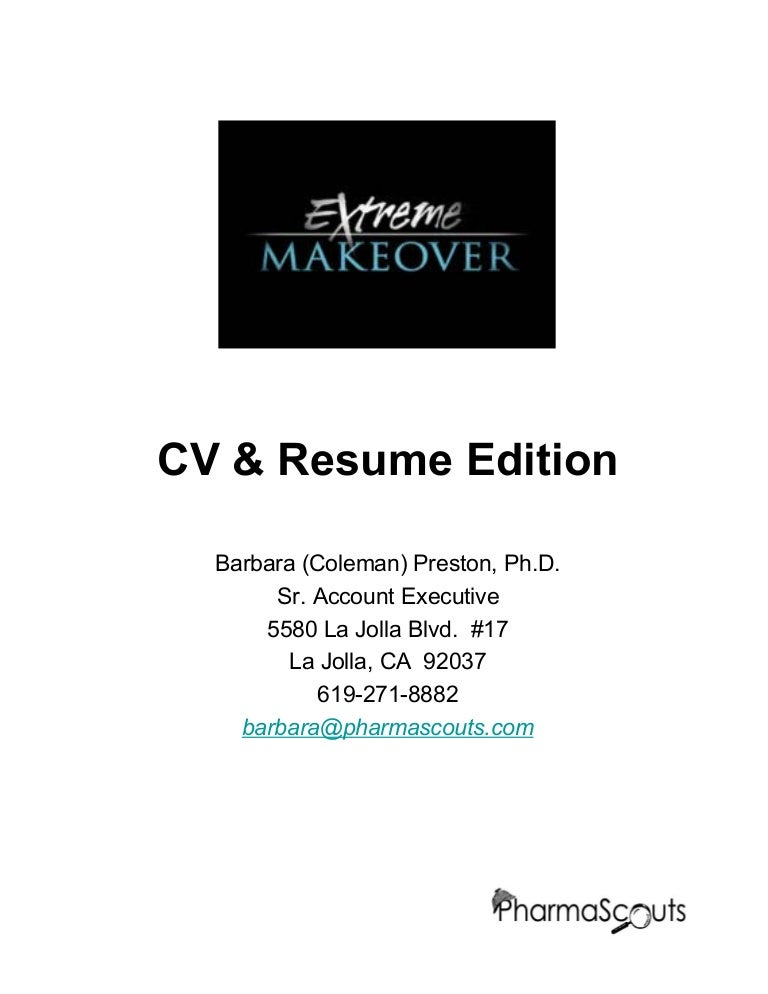 extreme makeover resume