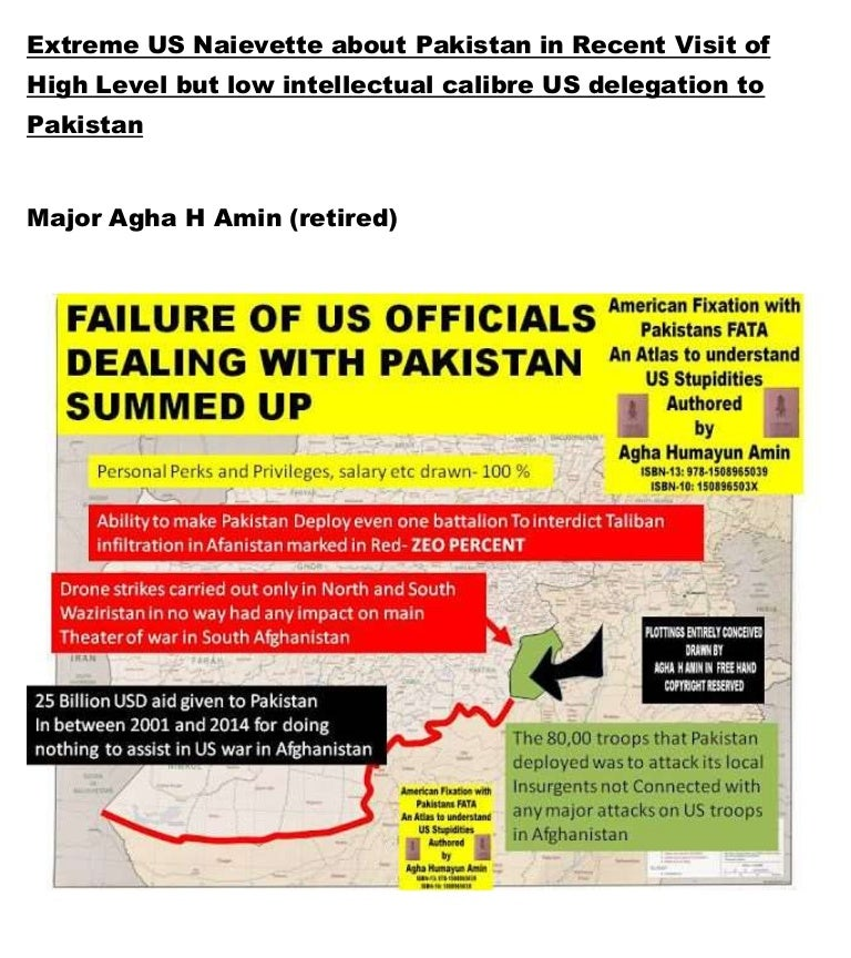 Extreme us naievete about pakistan in recent visit of high ...