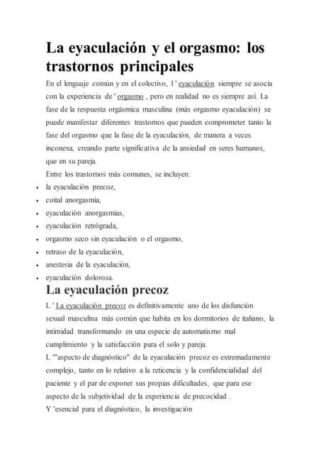 eyaculacion dolorosa a pdf