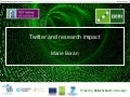Twitter and research impact