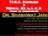 F.I.G.O. GUIDELINES & MEDICAL MANAGEMENT OF A.U.B. ( FOCUS ON PROGESTERONE ) BY DR SHASHWAT JANI