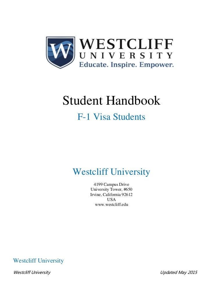 west cliff university student handbook