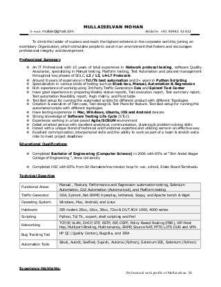 Professional Summary Examples For Resume   getessay biz Performance Tester Resume Photo Medium size