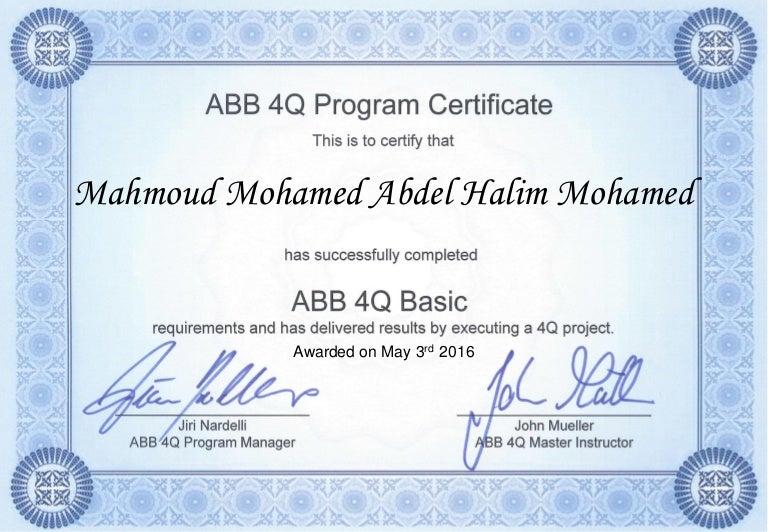 abb basic certificate