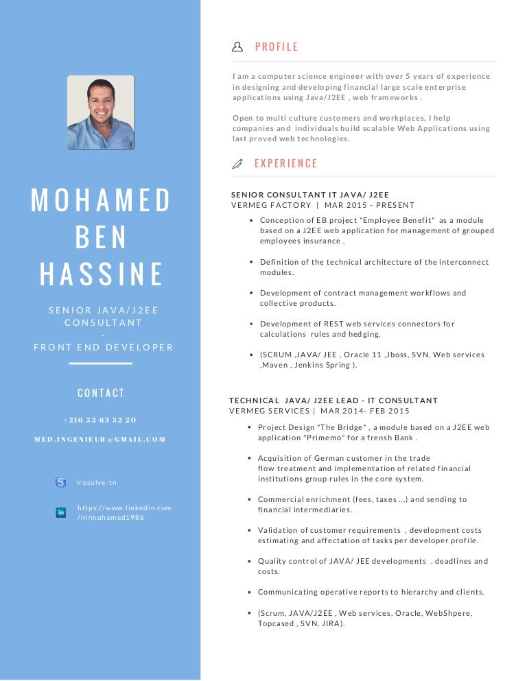 Resume Writing Samples or Examples