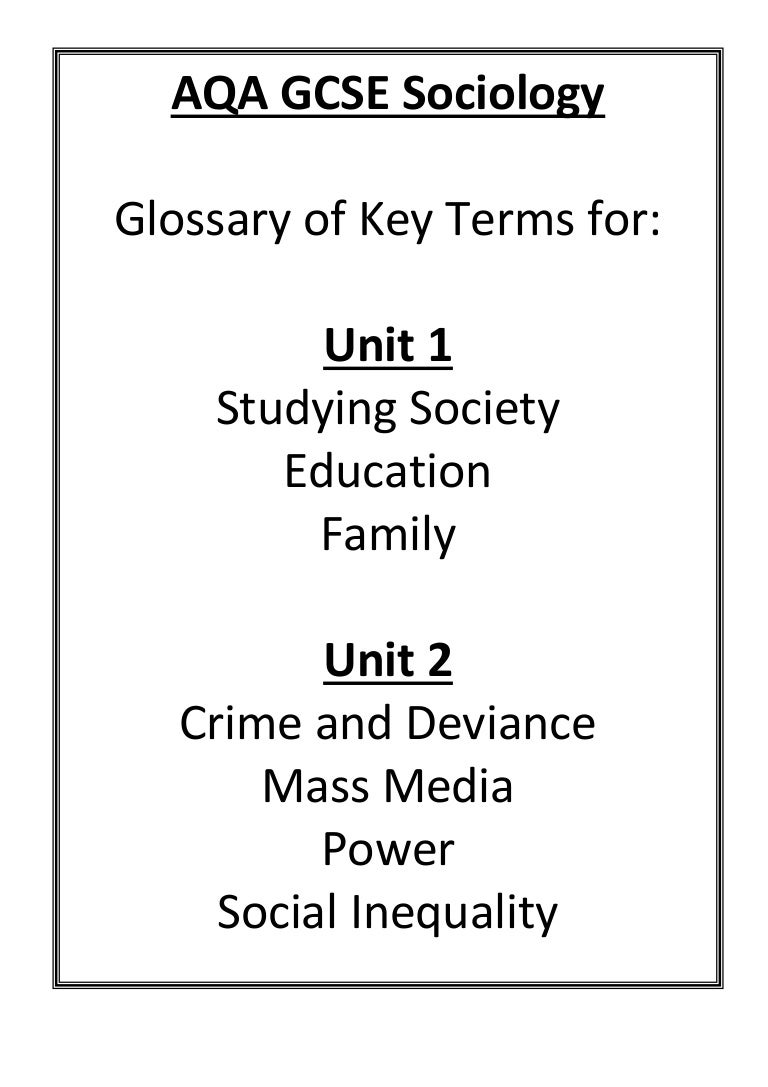 sociology unit g671 Unit g671 socialisation, culture and identity with research methods the author is principal examiner for the most important as level sociology examining board.