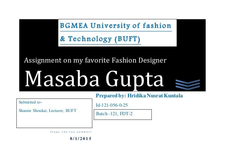 Assignment On Favourite Fashion Designer
