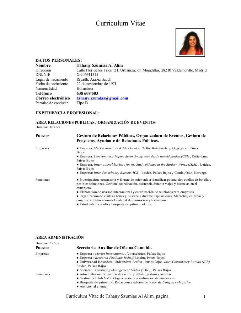Curriculum Vitae Malaga 2015