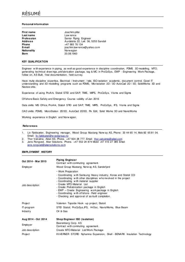 Lawrence CV på English 2