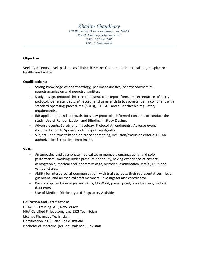 khadim chaudhary crc resume