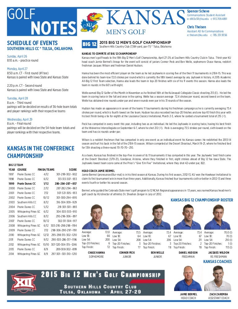 Kansas Men's Golf 2015 Big 12 notes-2