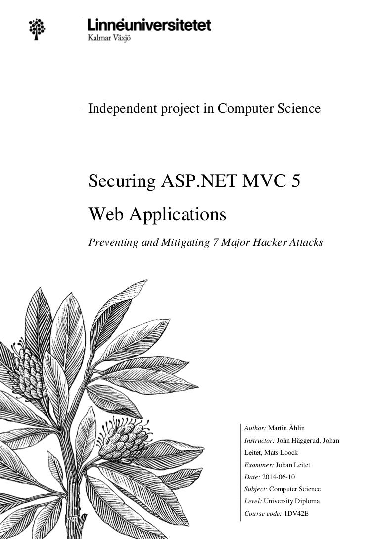 Securing ASP NET MVC 5 Web Applications