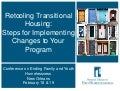 Retooling Transitional Housing: Steps for Implementing Changes to Your Program