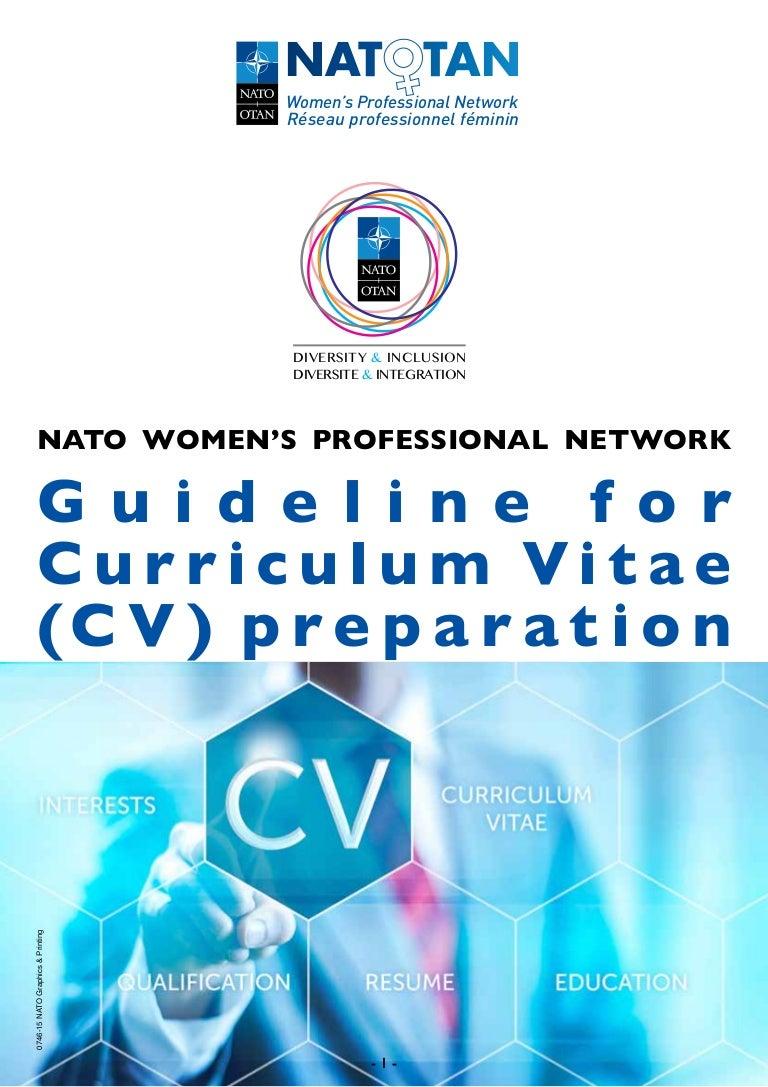 guidelines for cv preparation  nato