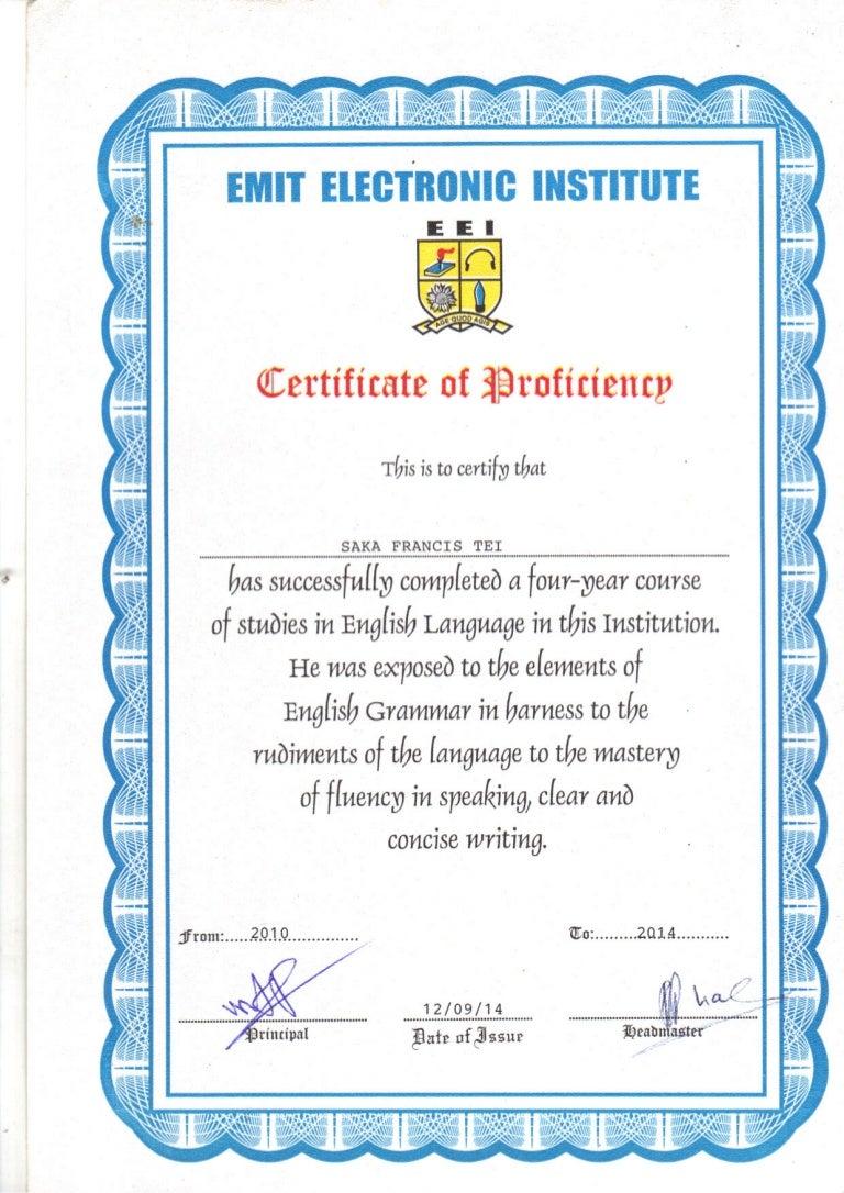 certificate english proficiency pdf