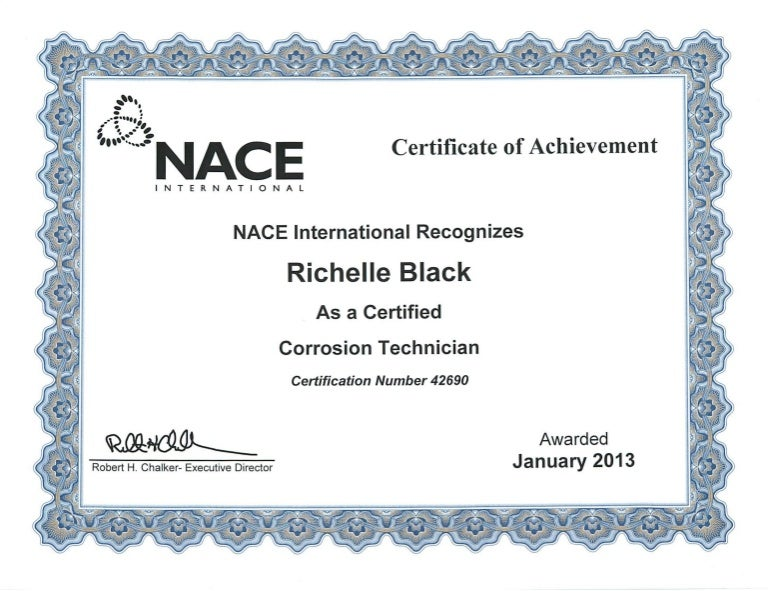 nace technician slideshare certificate corrosion upcoming
