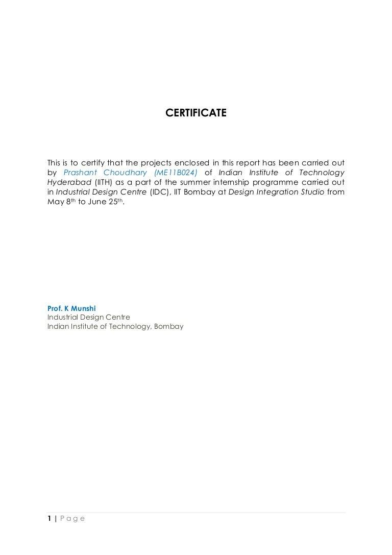Prashantchoudhary idc internship report 1betcityfo Images