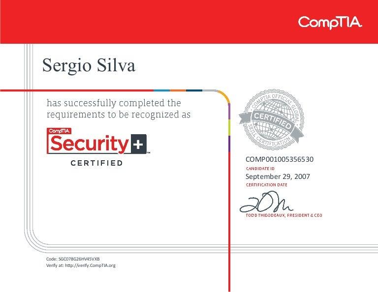 security certificate comptia ce