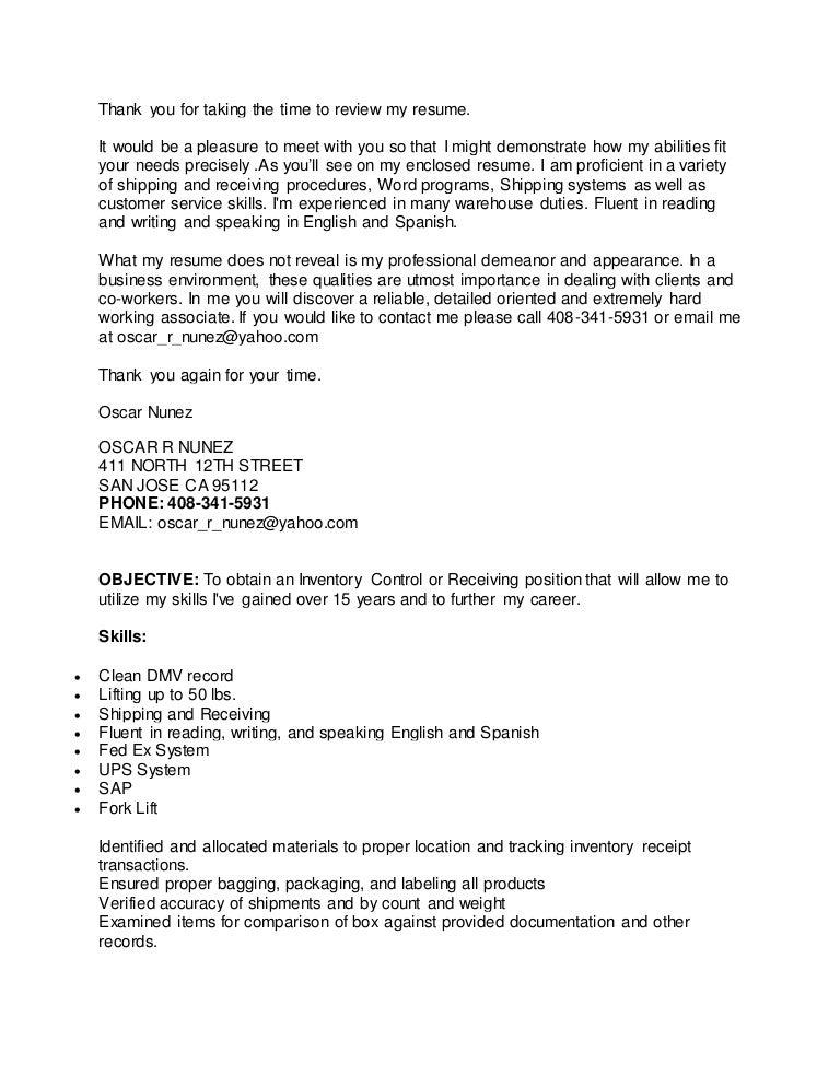 oscar resume