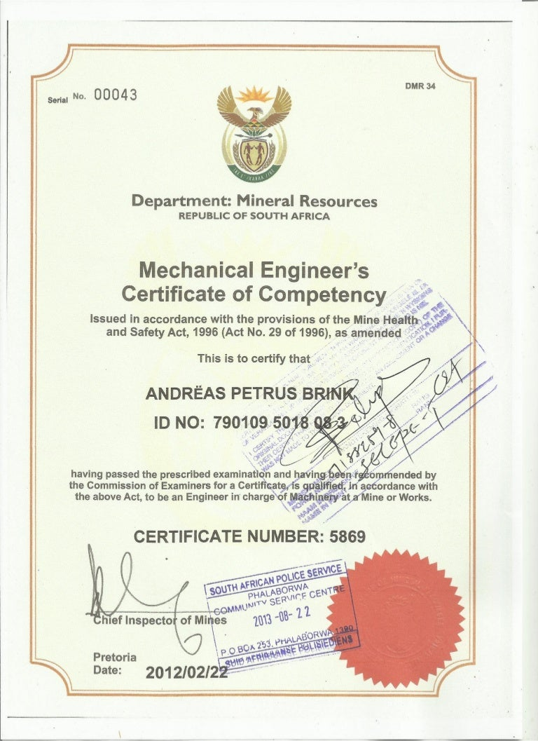 gcc mechanical certified