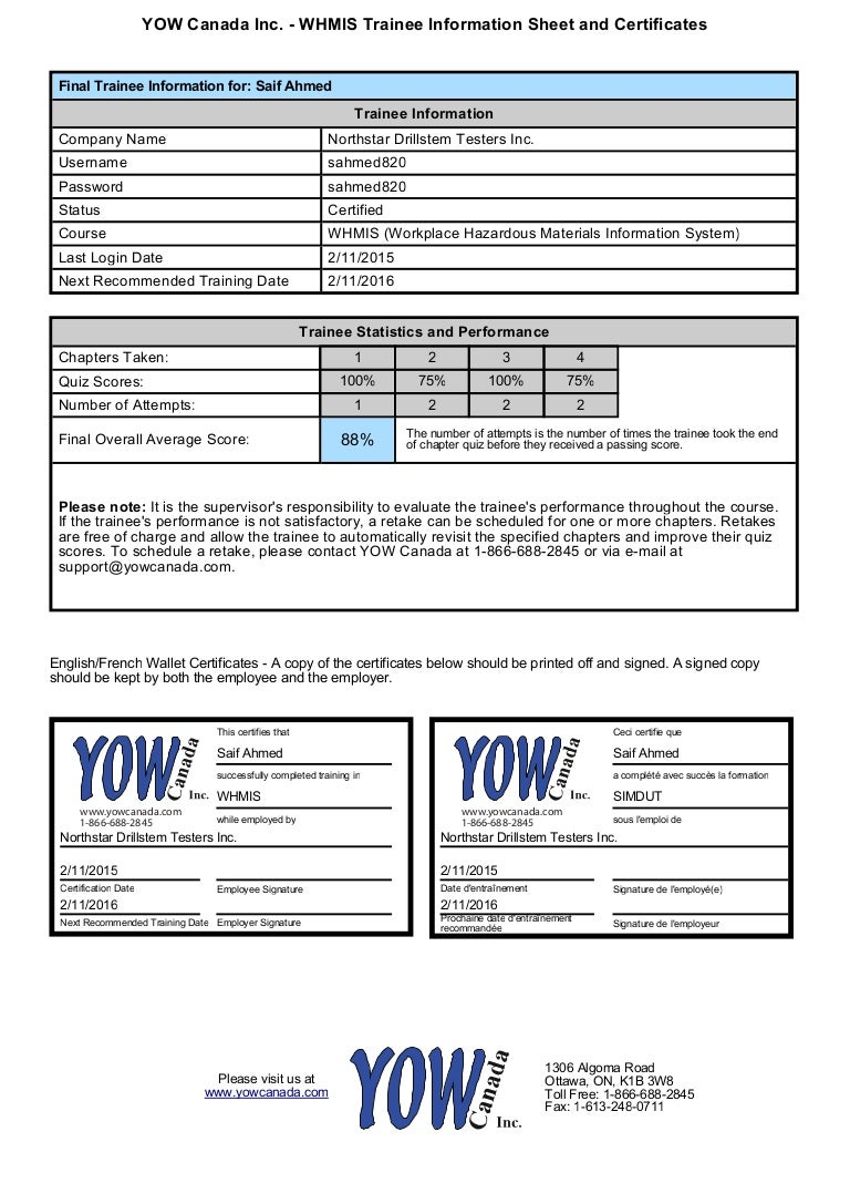 Comfortable whmis certificate template contemporary example best whmis certificate template contemporary professional resume buycottarizona Image collections