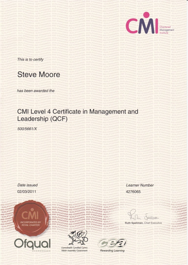 Cmi level 4 certificate in management leadership 1betcityfo Image collections