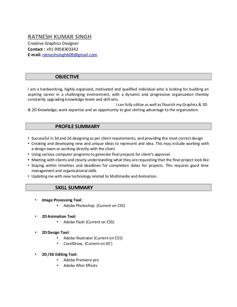 ratnesh resume  creative graphics designer