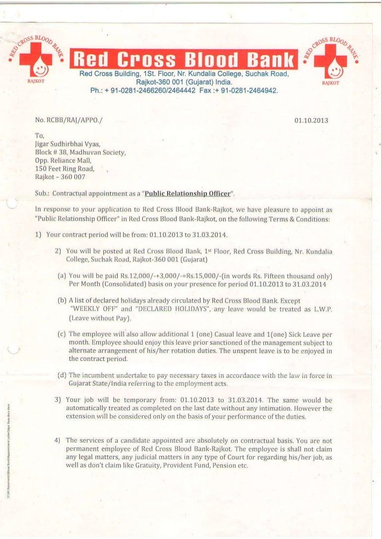 2013 Red Cross Blood Bank - Rajkot Contract
