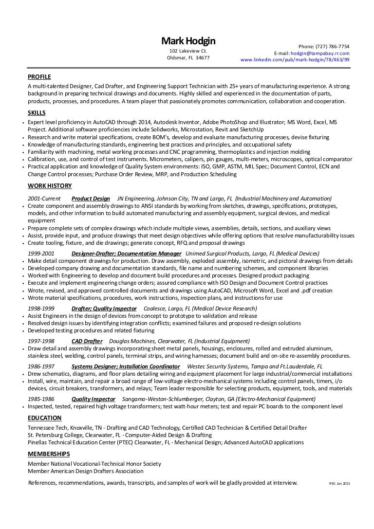Resume Mark Hodgin Designer Drafter Weston Ct Wiring Diagram