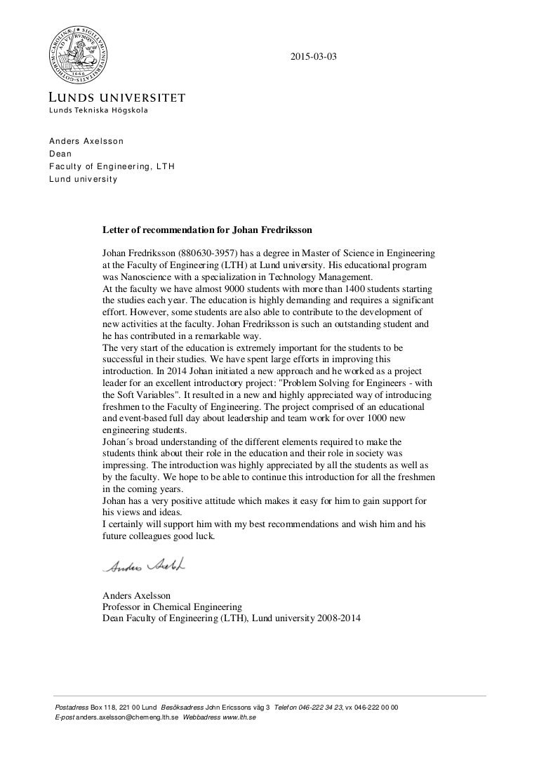 Reference Letter Template From Employer To University