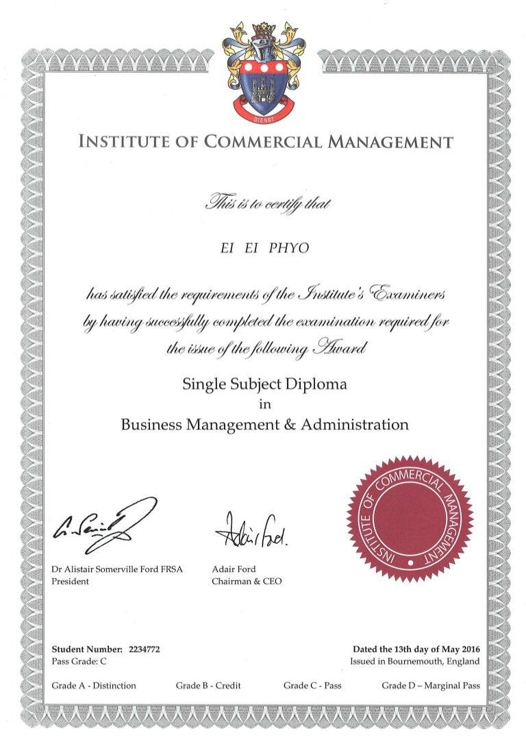 Icm Bma Certificate Pdf