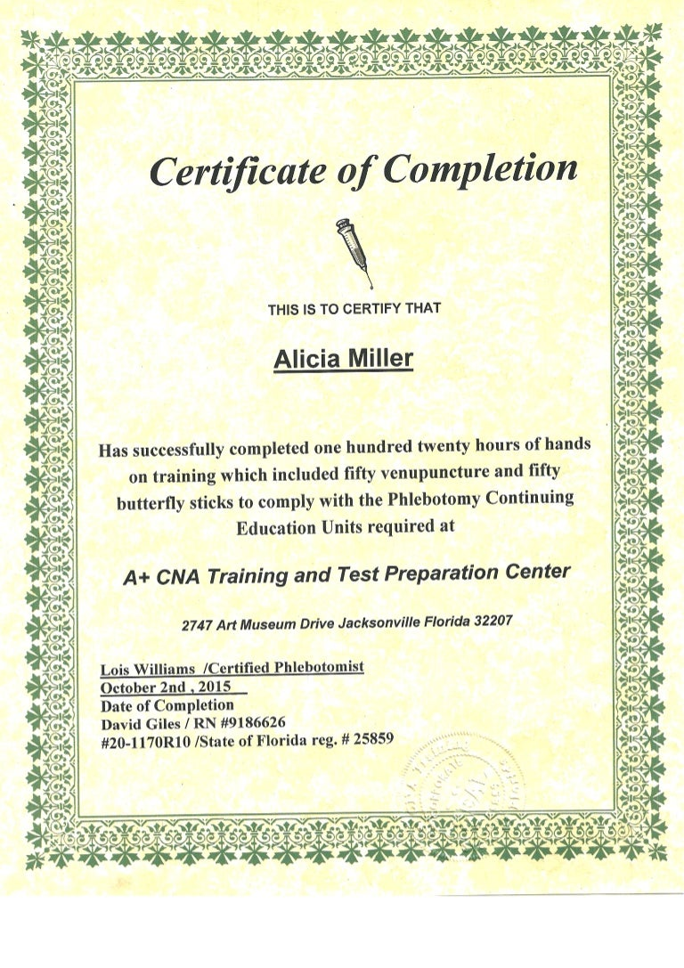 Phlebotomy certificate xflitez Image collections