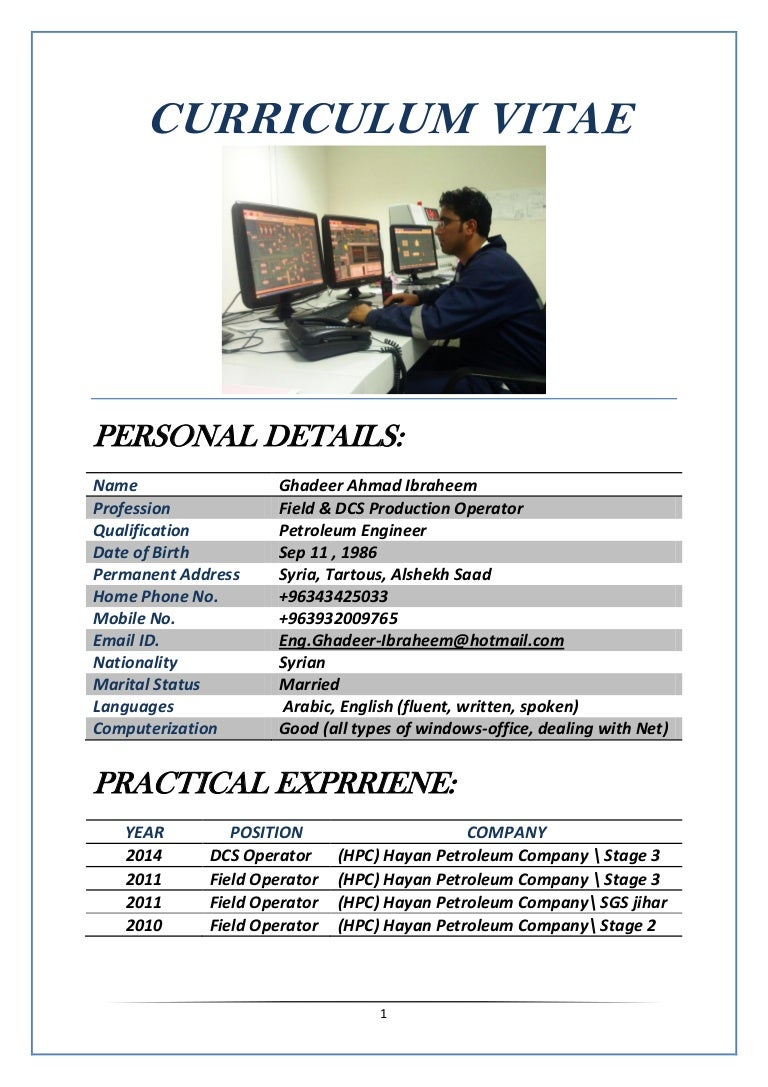 Great Production Operator Curriculum Vitae Gallery - Entry Level ...