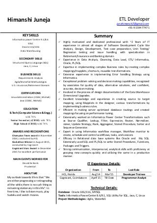 Informatica Sample Resume11 Resume 4