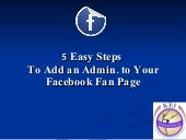 how to become admin on facebook page