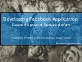 Introduction to Facebook Application development