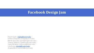 Facebook Design Jam: Game Notification Redesign